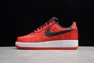 "2019 Clot x Air Force 1 Low ""1World"" Red / White - 358701-601"