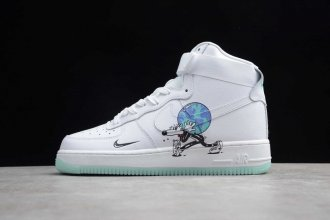 2019 Air Force 1 High Flyleather Steve Harrington Earth Day - CI5545-100