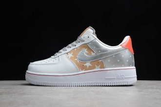 2019 Air Force 1 Low Stars White / Gold / Silver Metallic - CT3437-100